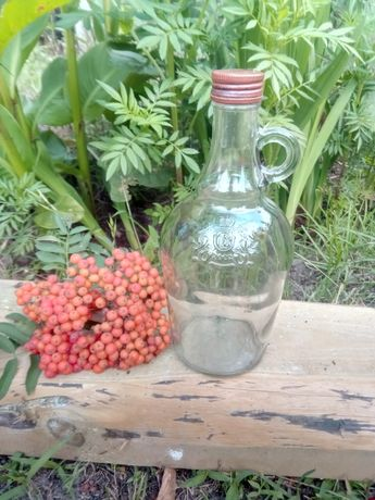 Butelka szklana nalewki soki 1l
