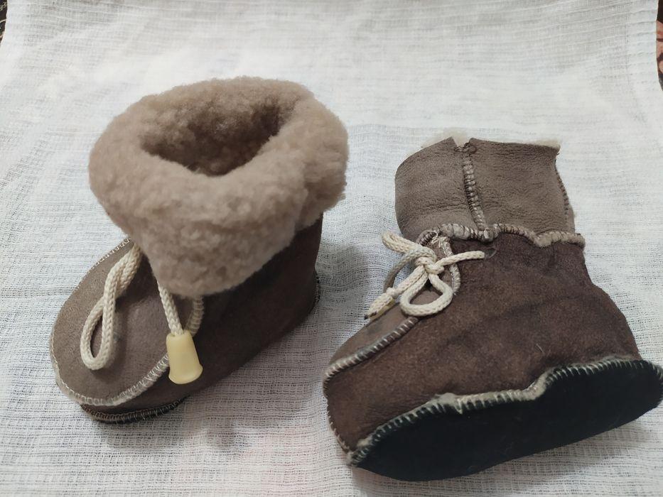 Пинетки коженные на цигейке. Мелитополь - изображение 1