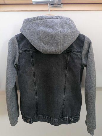 Kurtka jeans, szara z kapturem Pepperts 152cm