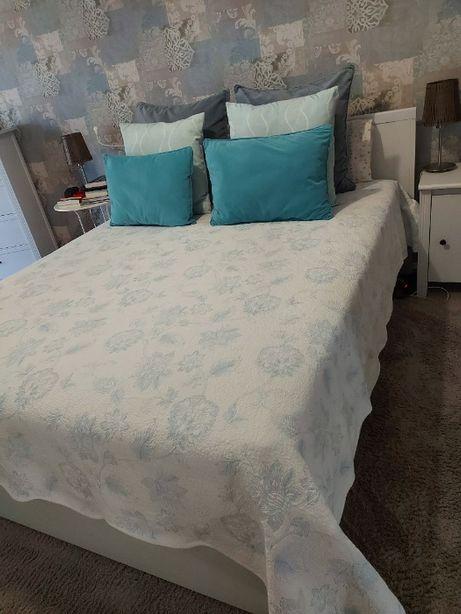 Cama Casal IKEA Brusali - Cinza Claro - Como Nova - sem colchão