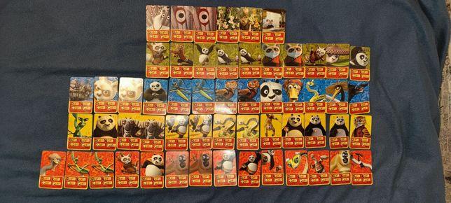 "Sprzedam 56 kart ""Kung Fu Panda"""