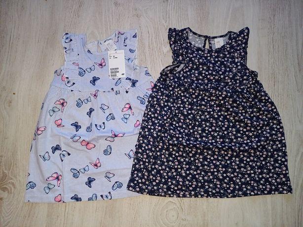 Nowe sukienki H&M r.86
