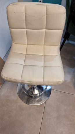 krzesło barowe białe podnoszone