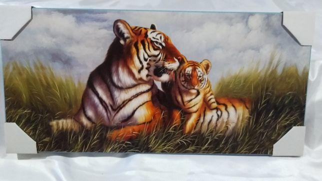 "Картина репродукция на холсте ""Тигры"""