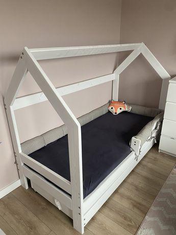Łóżko domek 180x80 plus materac lateksowy hevea