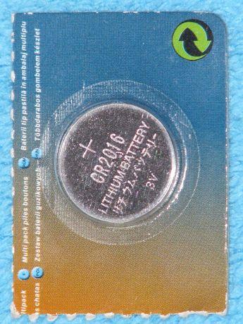 Bateria guzikowa litowa CR2016 CR 2016