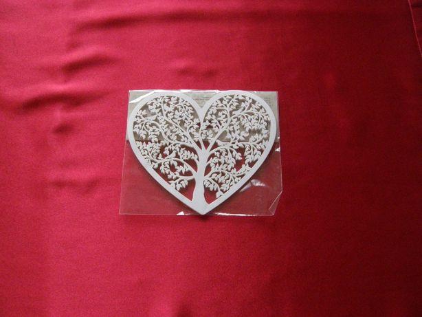 Serca papierowe z motywem drzewa 10szt NOWE