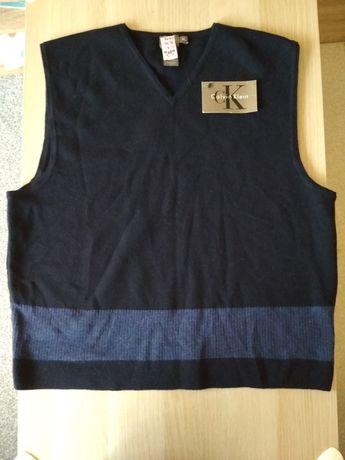 NOWA Wełniana Kamizelka/bezrękawnik Calvin Klein XL 100% lambswool