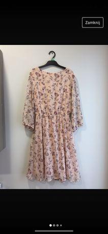 Sukienka w kwiaty damska