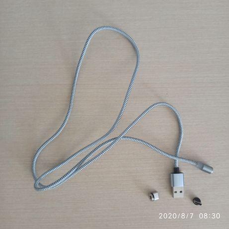 Магнитный кабель USB + 2 коннектора Type-C