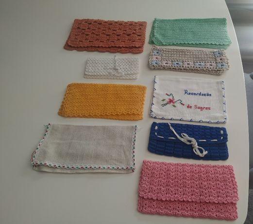 Bolsa de guardanapos em crochet