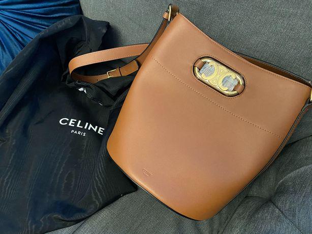 Celine piękna torba worek karmel złoto gucci Fendi