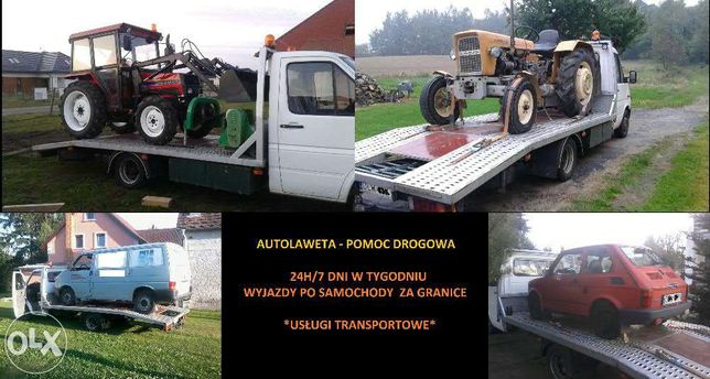 Laweta 1.6Tony POMOC DROGOWA transport aut, AUTOLAWETA tanio! 24/7