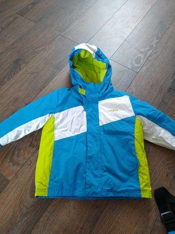 Kurtka, spodnie narciarskie i nowe rękawiczki