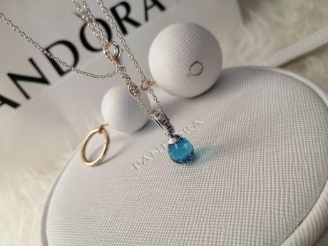 Pandora Naszyjnik Lodowy Kryształ 390377NBS