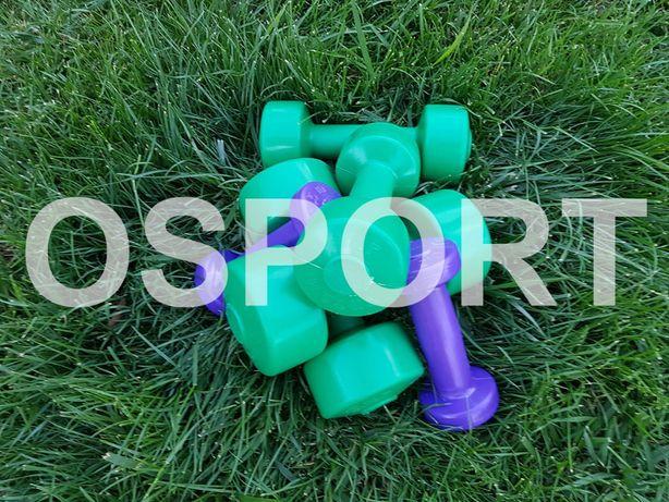 Гантели для фитнеса/спорта/тренировок OSPORT пластиковые 0.5,1,2,3,4кг