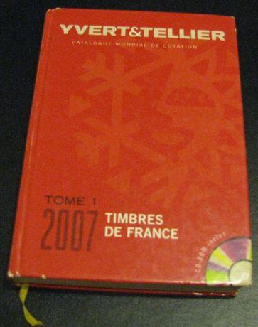 Znaczki - katalog YVERT - Francja 2007 rok