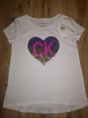 Calvin Klein tshirt dla dziewczynki r. 140
