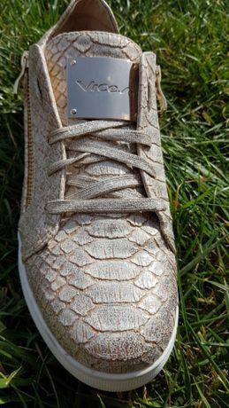 Buty półbuty sneakersy złote 40. 25 cm.