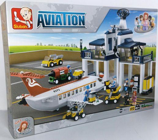 """Конструктор Sluban M38-B0373 """"Аэропорт"""", 826 дет. Лего"""