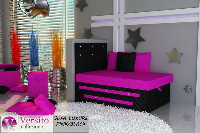 Łóżko dla dziecka,fotel rozkładany,sofka młodzieżowa z kryształkami