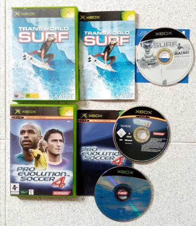 2 Jogos XBOX - Surf e PES 4