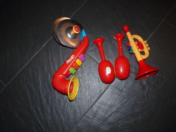 Conjunto de instrumentos musicais criança