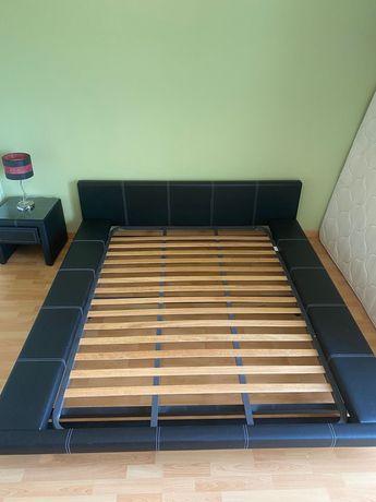 Cama Imitar Pele + Estrado + Colchão (195x140) + Mesa Cabeceira