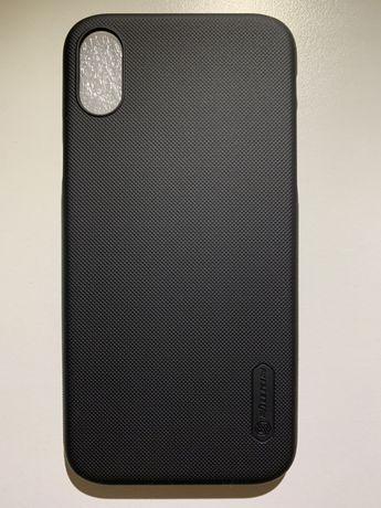 Capa iPhone X Nillkin preto, minimalista bom grip. Nova!