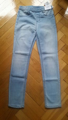 Nowe denim leggings spodnie H&M 8-9 lat