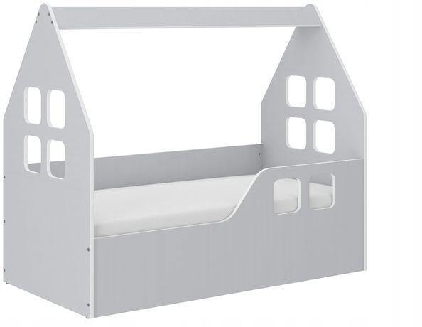 Łóżko dziecięce DOMEK KOLOR SZARY 140x70 + materac PROMOCJA