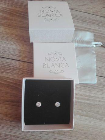 Novia Blanca kolczyki brylanty cyrkonie australijskie biżuteria ślubna