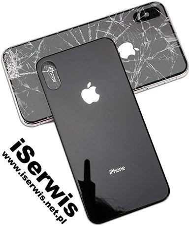 Naprawa wymiana szybki iPhone X Xs Xs Max 8 Plus tył tylne szkło Apple