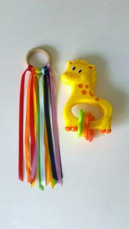Zabawka dla dziecka.Kolorowe wstążeczki.Montessori.