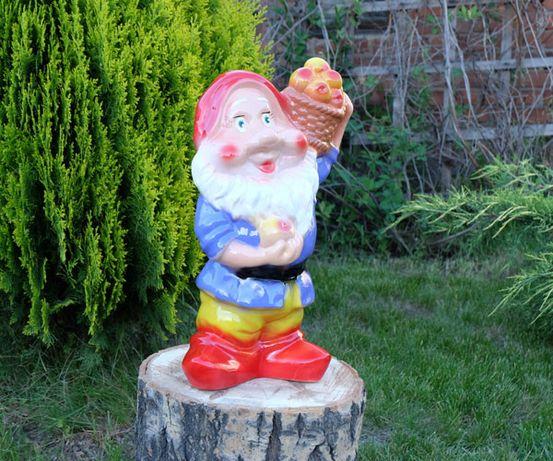 Садовый гном с корзиной яблок 40 см керамика, декор, фигура во двор