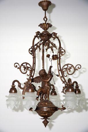 Антикварная люстра антикварный светильник винтажная лампа антиквариат