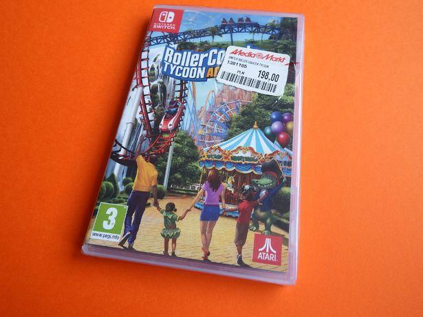 Nintendo SWITCH Rollercoaster Tycoon budowa lunaparków symulator