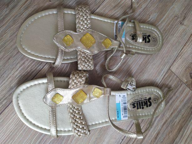 Złote sandały rozmiar 41