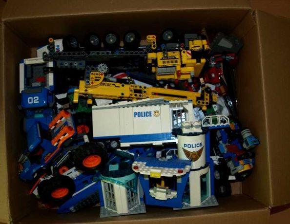 Lego mix klocków w tym policja luz plus gratis