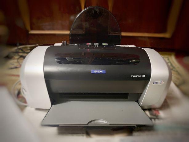 Цветной принтер НР Epson Stylus C66 (струйный)