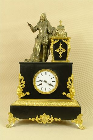 zegar stojący kominkowy BRONZ ! BRĄZ Złococony 57 cm !