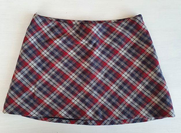 Jak nowa krótka spódniczka mini kratka h&m 36 s wełna