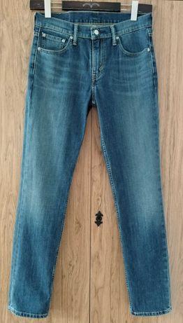 Levi's 511 męskie spodnie jeansy niebieskie proste W30 L34 super stan