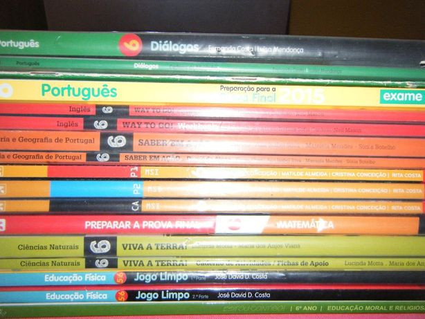 Livros Escolares 6º Ano (Conjunto 2)