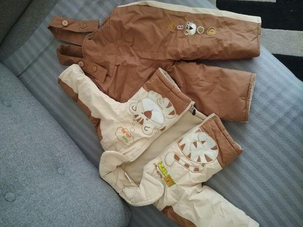 Kombinezon 2czesciowy zimowy, kurtka, spodnie, dla chlopca rozm 74