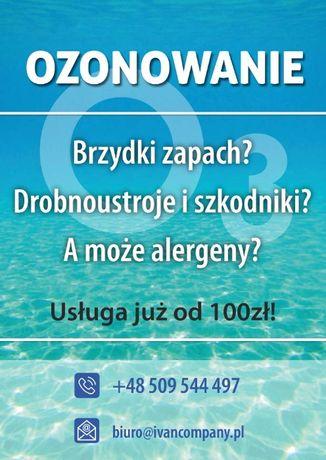 Ozonowanie/dezynfekcja pomieszczeń Olsztyn