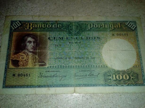 Nota 100 Escudos 1935 Portugal