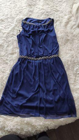 Granatowa sukienka rozmiar 36/38 jak nowa