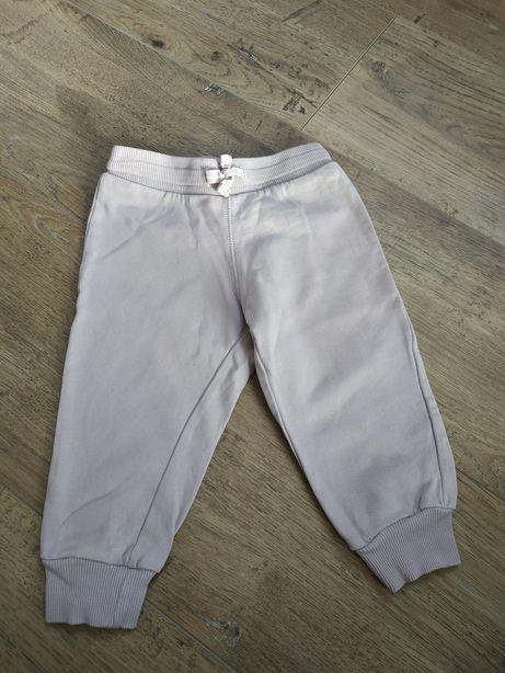 Różowe spodnie dresowe H&M, r 80