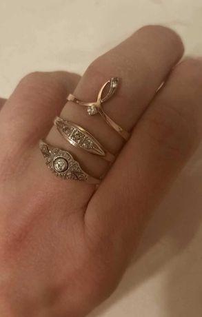 Złoty pierścionek antyk